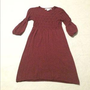 3/4 length bell sleeve sweater dress