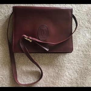 Cartier Double C Logo Leather Bag