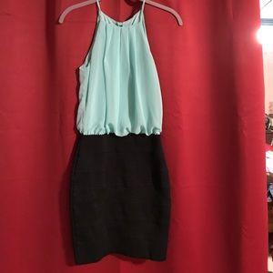Mint green semi formal dress size 1/2