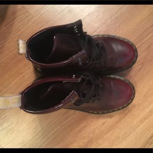 Cherry Red Doc Martens boots