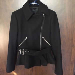 Black Fitted Coat from Zara