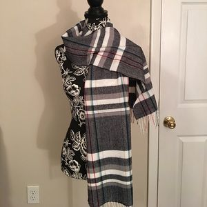 Cashemere Feel Fringed Scarf Multicolored