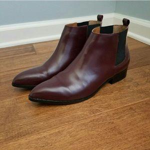 Burgundy GAP Chelsea boots