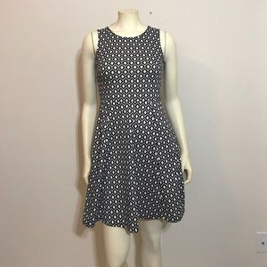 H&M Black white sleeveless dress small