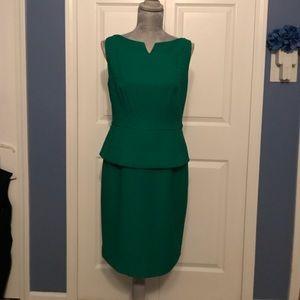 emerald green poplin dress!