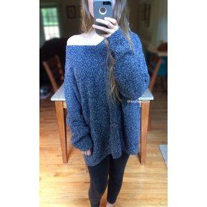 Rainy Autumn Morning Plush Knit Sweater 🍁