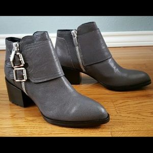 Brand new grey leather Calvin Klein ankle boots.