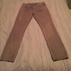 Men's mossimo olive drab colored jeans slim strait