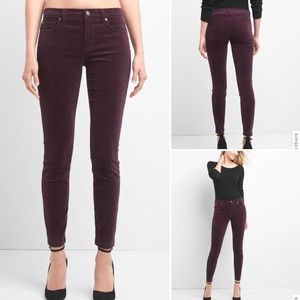 Gap Skinny 'Rich Wine' Legging Jean Cords sz14