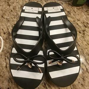 Kate Spade high heel flip flops