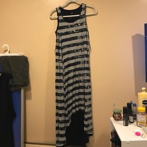 Kensie striped high low dress size medium