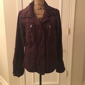 EDDIE BAUER PLUM JACKET 100% COTTON.