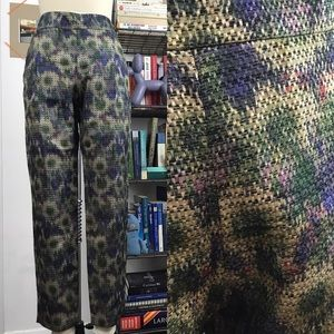 French Connection Abstract Floral Watercolor Pants