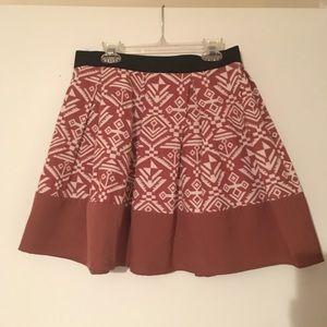 Aztec Print Skater Skirt