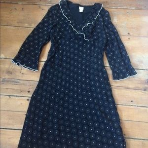 J.Jill black sheer rayon dress