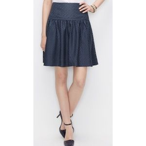 Ann Taylor Textured Swing Skirt Size 10