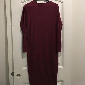 Zara TRF maroon dress