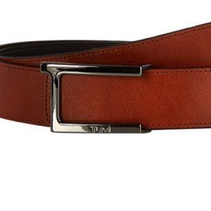 Tumi T Belt - Reversible Cognac/Black Leather NWT