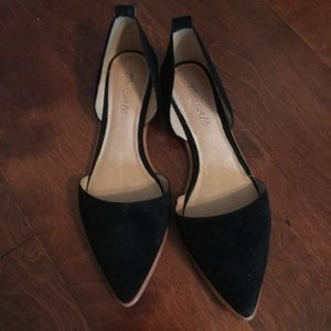 Ankle Wrap D'Orsay Flats, size 9