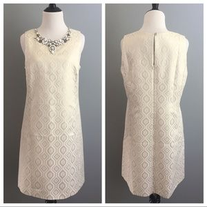 White House Black Market geometric jeweled dress