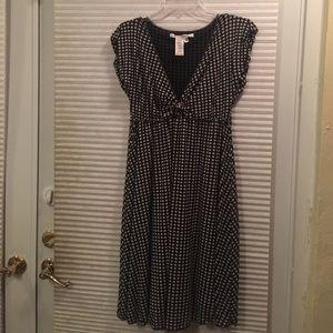 Max Studio medium black and Ivory pok-a-dot dress