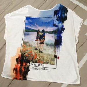 Zara Collection colorful short sleeve tee