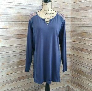 Plus Size Woman Within Embroidery Tunic Size 2X