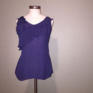 Banana Republic purple sleeveless silk top sz S