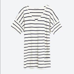 Zara Oversized Striped Tunic Dress Size Medium