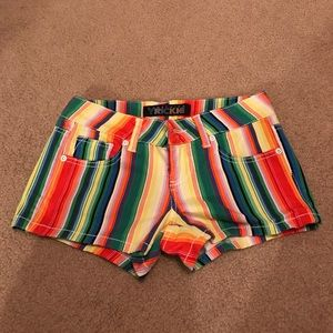 Pants - Something Trickie Striped Shorts