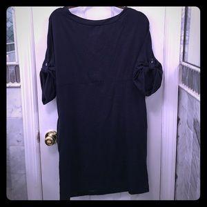 Max Studio Blue Tshirt Dress