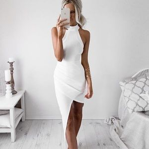 Runaway the Label White Asymmetric Skirt
