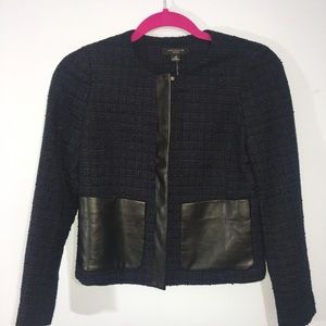 Ann Taylor navy tweed jacket