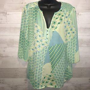 Banana republic chiffon blouse size medium