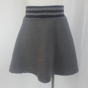 Rue 21 Gray Quilted Skater Skirt Size M