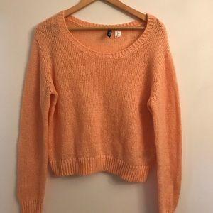 H&M Peach Knit Cozy Sweater (Size 10)