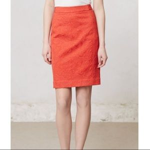 Anthro Vanessa Virginia Brocade Pencil Skirt Sz 2