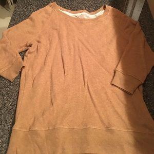 Jcrew tan sweatshirt
