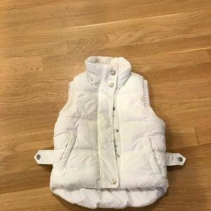 Zara Kids White Puff Vest