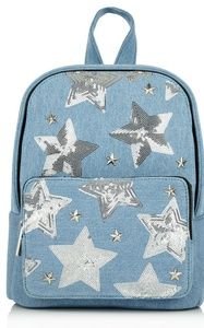 Denim Star Backpack