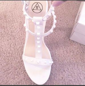 Studded open toe heel/ sandals