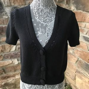 Lucky Brand Cropped Cardigan Sweater