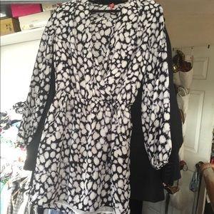 Black & White Mini Dress w/ pockets (Tunic)