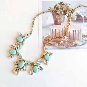 J. Crew light mint statement necklace