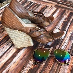 L.am.b wedge sandals