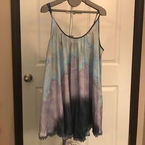 Free people tie-dye adjustable strap tank NWT
