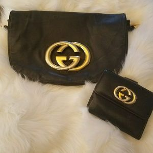 Vintage gucci clutch and wallet