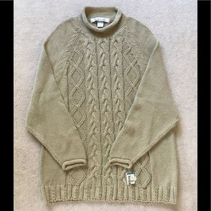 The Limited Cable Sweater TAN. NWT