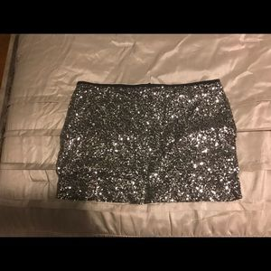 Express sparkly mini skirt
