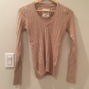 100% Cotton H&M Cable Knit Sweater Camel XS